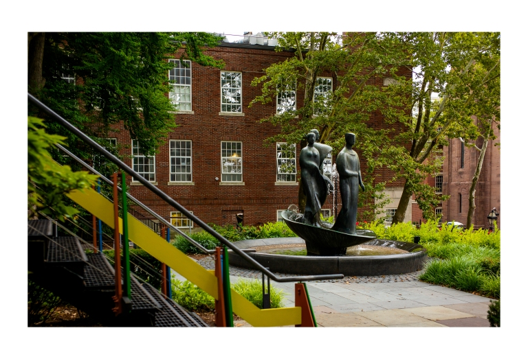 Sculpture and Stairway at RISD
