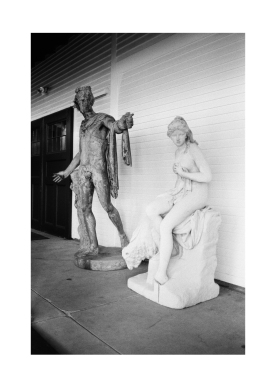 Two Statues at Linden Place