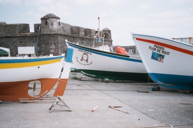 Fishing boats near the piers in Villa Franca