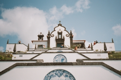 This shrine is at the peak of a hill overlooking Villa Franca