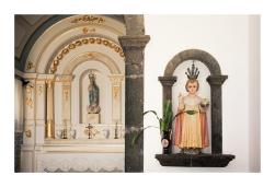 Statuette Near the Altar