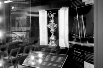 A replica of the America's Cup