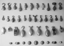 A collection of rigging hardware all made on-site