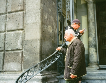 Men on the Church Steps-1