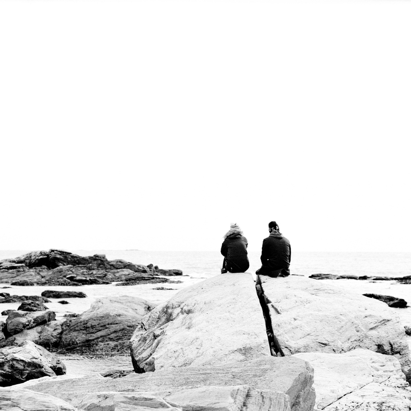 I took this couple's picture on their Iphone for them, after surreptitiously getting them with my Pentax.